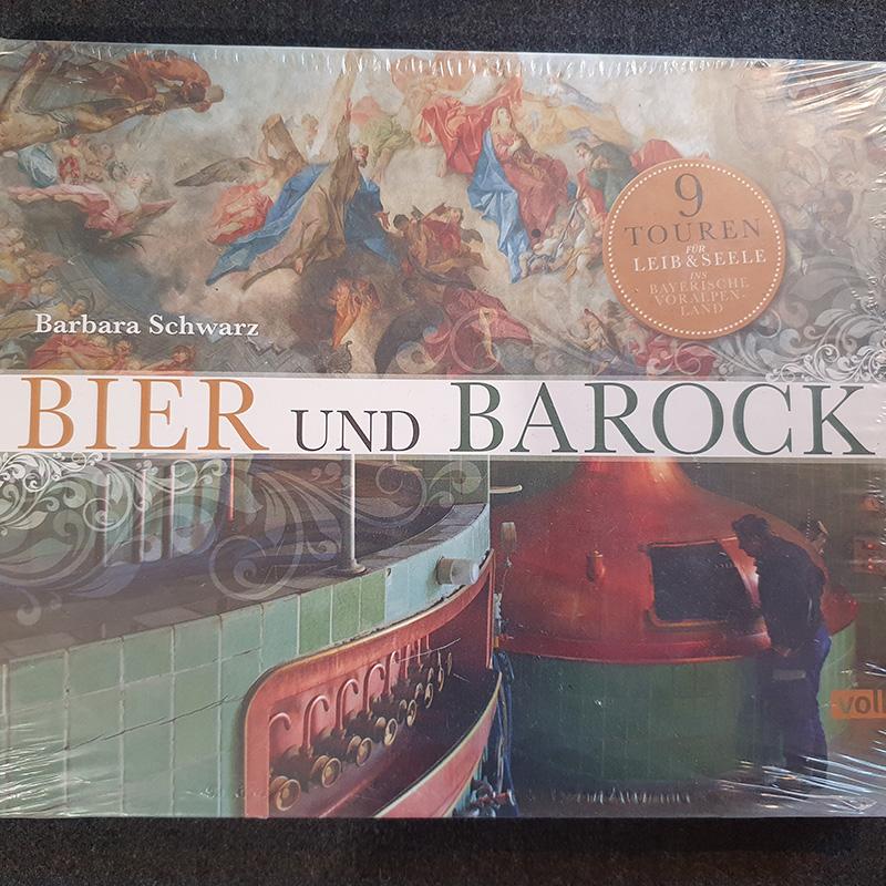bucheinband von bier und barock mit bildern einer brennerei und kichenmalerei